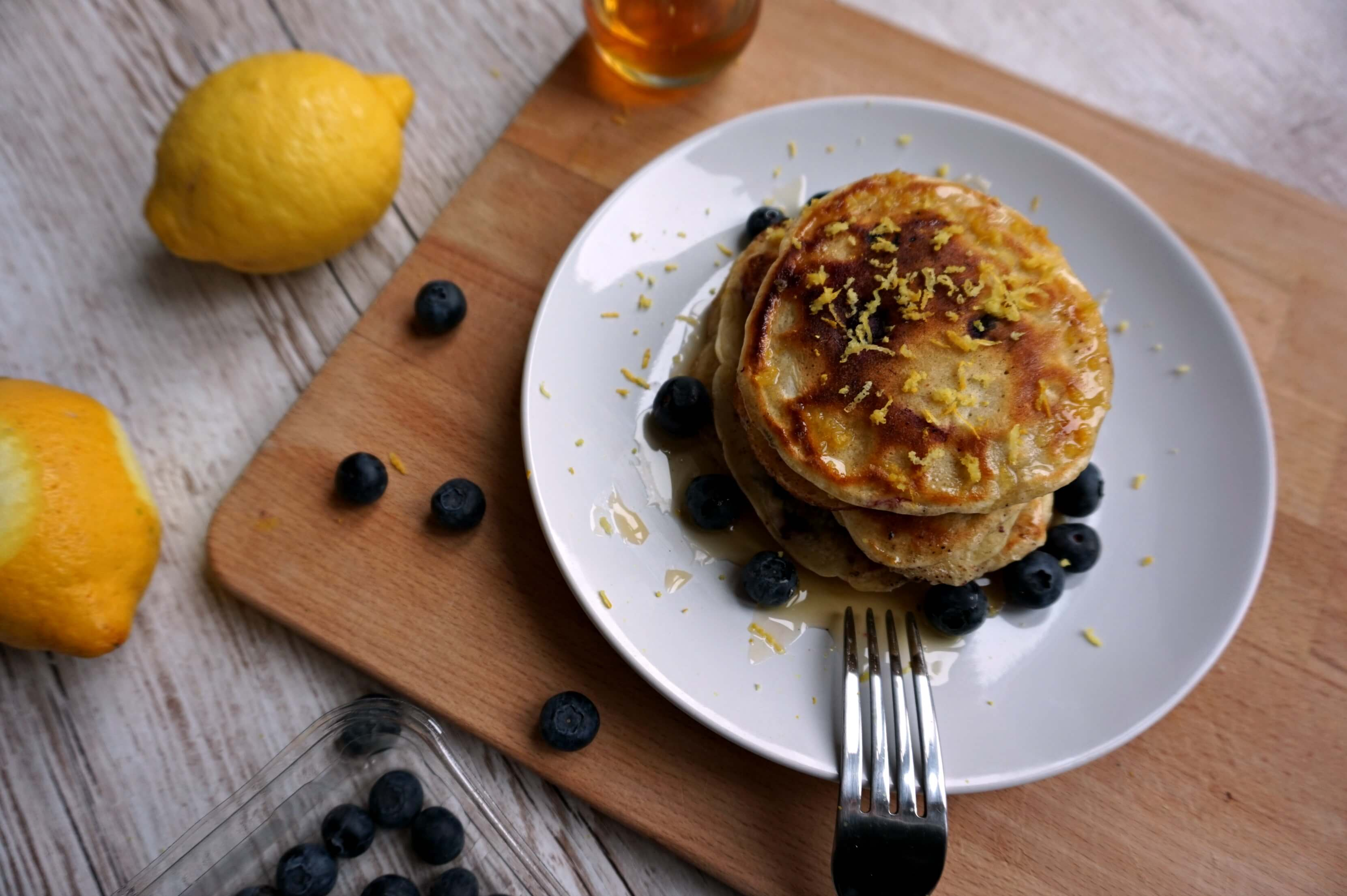 Blueberry and Cinnamon Pancakes