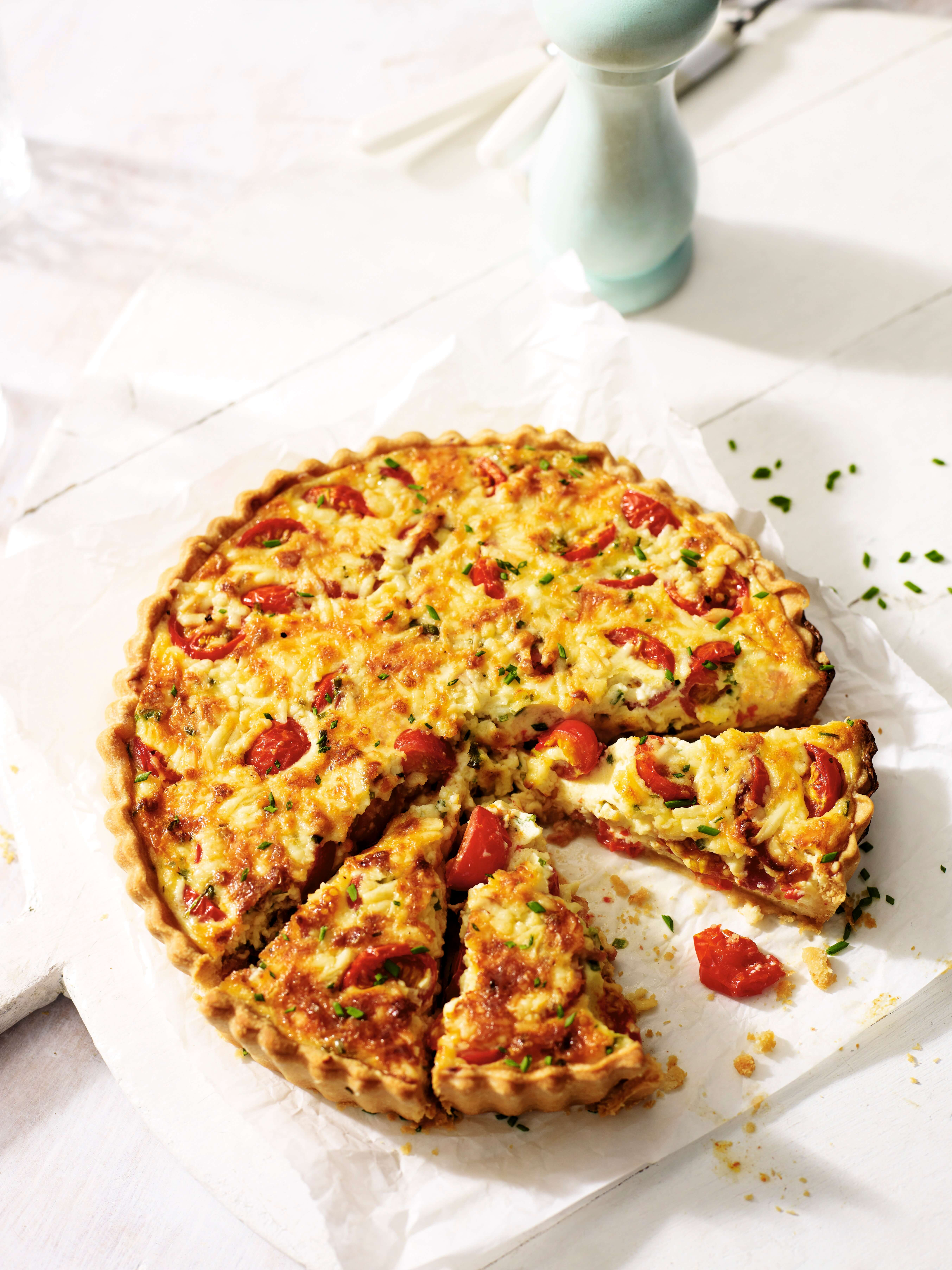 Cheddar, Bacon and Tomato Tart